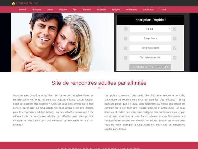 chat-adulte.net : Site de rencontre par affinités